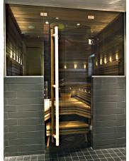 Glass walls and doors for sauna