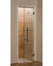 Sauna glass door with frame