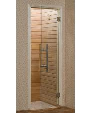 Sauna glass doors with wood frame