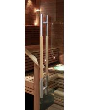 Sauna glass wall doors handles