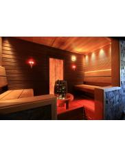 Sauna lighting with LED and fibre