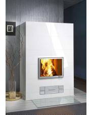 Fireplace floor glasses with rounded corners