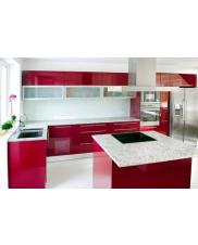 Glass wall panel kitchen splashback clear glass